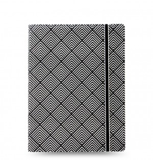 Filofax Notebooks Impressions - A5 - Black & White Deco