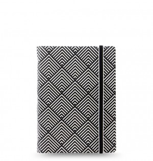Filofax Notebooks Impressions - Pocket - Black & White Deco