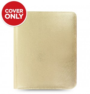 Funda tableta Saffiano Metallic Zip - Large - Gold