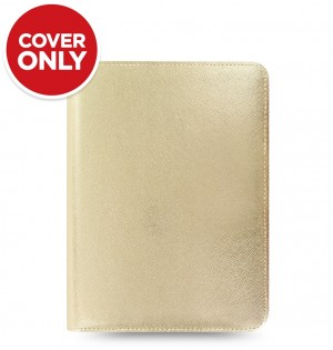 Funda tableta Saffiano Metallic Zip - Small - Gold