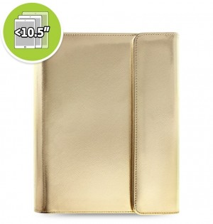 Funda tableta Saffiano Metallic Wrap + eniTAB360 - Large - Gold