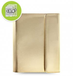 Funda tableta Saffiano Metallic Wrap + eniTAB360 - Small - Gold